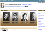 Biography Reference Center screenshot