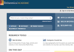 Britannica Academic screenshot