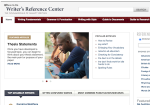 Image link to Writer's Reference Center
