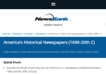 Image link to America's Historical Newspapers 1690-2000