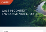 Image link to Gale in Context Environmental Studies