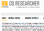 CQ Researcher Online screenshot