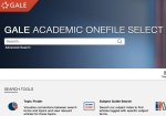 Gale Academic OneFile Select with Subject Collections screenshot