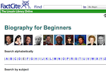 Image link to FactCite Biography for Beginners