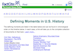 Image link to FactCite Defining Moments